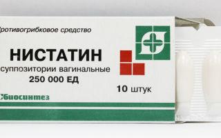 Свечи Нистатин: показания к применению