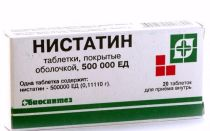 Таблетки Нистатин: инструкция по применению при молочнице