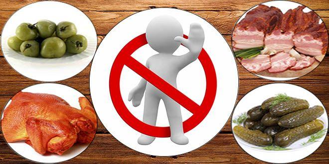 запрещенные продукты при воспалении мочевого пузыря