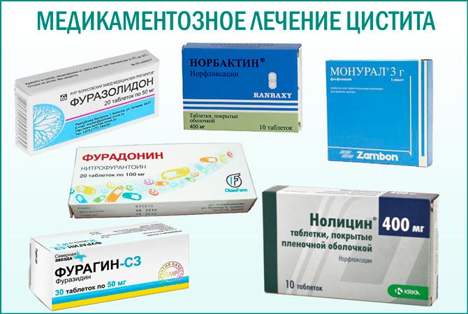 антибиотики при воспалении шейки мочевого пузыря