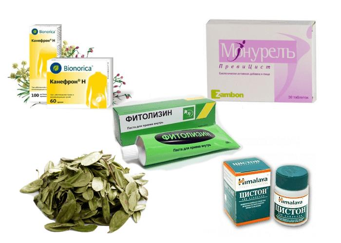 фитопрепараты для облегчения состояния при воспалении мочевика