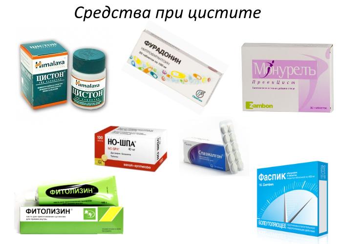 терапия цистита препаратами